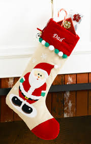santa claus personalized christmas stocking red velvet corduroy