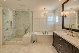 houzz bathroom bathroom traditional with framed mirror crystal