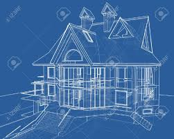 blueprint for house house blueprint 3d technical draw stock photo picture and