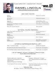 production resume sample music resume resume cv cover letter music resume music major resume example md res june 2016