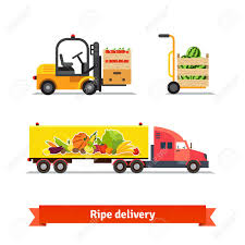 fresh fruit delivery fresh fruit and vegetables delivery ripe truck forklift crates