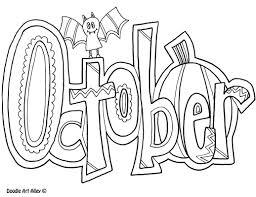 october coloring pages for kids kids calendar pinterest