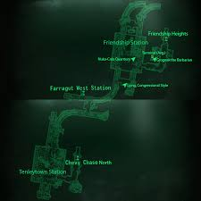 Fallout 3 Maps by Image Metro Tenleytown Friendship Station Map Png Fallout Wiki