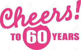 celebrating 60 years birthday cheers to 60 years 60th birthday royalty free cliparts vectors