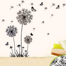 2 set butterfly flying in dandelion bedroom living room stickers
