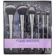 face secrets 6 piece cosmetic brush set