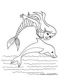 coloriages sirène et bébé sirène dans l u0027eau à colorier fr