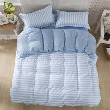 Blue Striped Comforter Set Home Textile Bedding Set Stripe Style Duvet Cover Set Bed Cloth