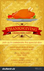 us thanksgiving date vector illustration happy thanksgiving party invitation stock