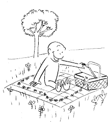 george eats noodles coloring pages curious george coloring pages