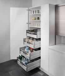 vorratsschrank küche stock cupboard with interior roller baskets keuken