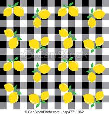 seamless lemon pattern seamless lemon pattern background fashion or interior stock
