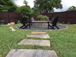 Flagstone Firepit Outdoor Fireplaces Pits And Features In Dallas Tx