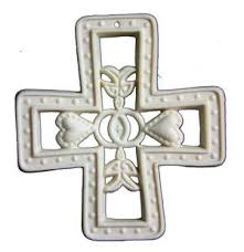 handcrafted porcelain cross ornaments grace gifts