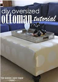 Coffee Table Or Ottoman - how to make an oversized ottoman tutorial the homes i have made