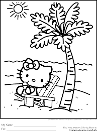 free coloring pages of hello kitty coloring home