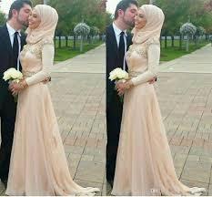 discount 2015 fall wedding dresses hijab islamic muslim women