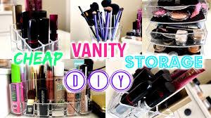 diy u0026 cheap vanity storage ideas youtube