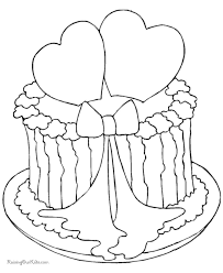 valentine cake coloring sheet 008