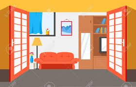 home interior vector house room vector illustration background flat home interior