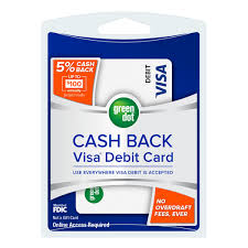 no fee prepaid debit cards 5 back visa debit card green dot