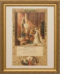 Religious Wall Decor Certifiacte Of Marriage Lordsart