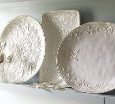 metal platters juliette oversized serving platters pottery barn