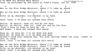 bob song i ve been all around this world lyrics and chords