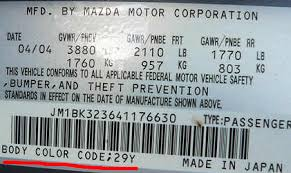 mazda paint codes car touch up paint car paint