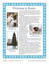 christmas in russia worksheet education com