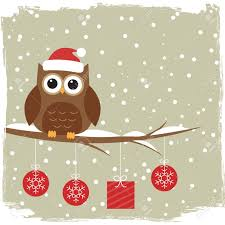 owl christmas winter card with owl royalty free cliparts vectors and