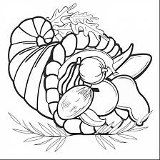 stunning thanksgiving cornucopia coloring page with cornucopia