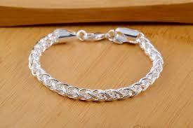 link men silver bracelet images Best selling russian runway rope chain link bracelet 925 jpg