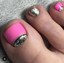 25 eye catching pedicure ideas for spring glitter toe nails