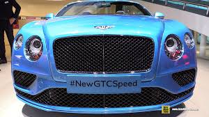 blue bentley 2016 2016 bentley continental gtc speed exterior and interior