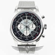 black mesh bracelet images Breitling transocean chronograph unitime 46mm stainless steel case jpg