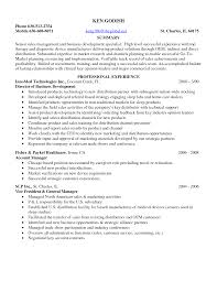 Inbound Sales Resume Medical Sales Resume Examples Resume For Your Job Application