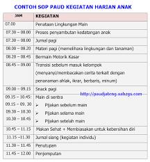 tips membuat jadwal kegiatan harian contoh sop paud kegiatan harian kurikulum 2013 penjelasan paud jateng