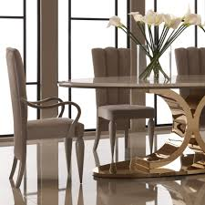 Italian Dining Room Table Luxury 24 Carat Gold Plated Oval Designer Dining Table Juliettes
