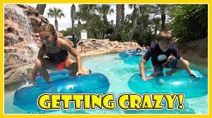 the kids get wild in the lazy river we are the davises youtube