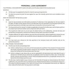 loan agreement templates u2013 word excel pdf u2013 get calendar templates