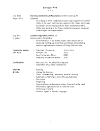 Lifeguard Job Duties For Resume by Resume Best Without Address Info