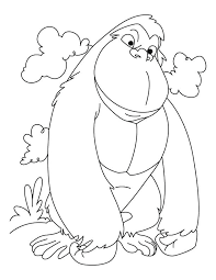 coloring page of gorilla gorilla coloring pages free online coloring pages for kids animals