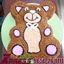 2 5 kg teddy bear cake delivery in noida delhi ghaziabad the