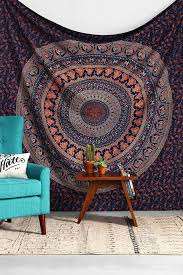 Psychedelic Room Decor Nice Decoration Indian Tapestry Wall Hanging Astounding Ideas