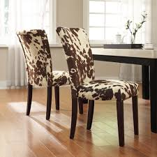 animal print dining room chairs tribecca home portman cow hide parson side chairs set of 2