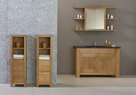 Oak Bathroom Cabinet Lovable Oak Bathroom Furniture Freestanding With Cabinets