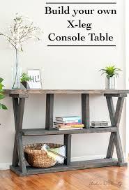 diy entryway table plans diy rustic x leg console table with plans anika s diy life