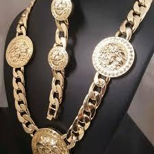cuban chain bracelet images Accessories medusa head cuban chain necklace bracelet set poshmark jpg