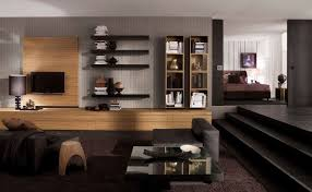 Stone Wall Living Room by Modern Living Room Design Ideas White Sofas Walnut Wall Shelves